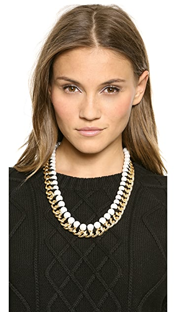 Adia Kibur Imitation Pearl Chain Necklace