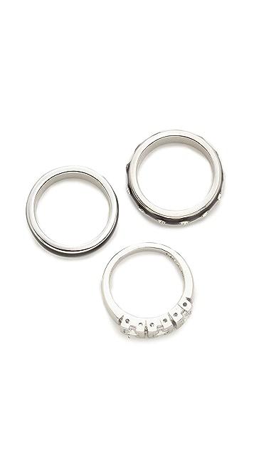 Adia Kibur Triple Stack Ring Set