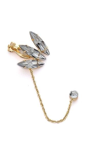 Adia Kibur Crystal Chain Ear Cuff