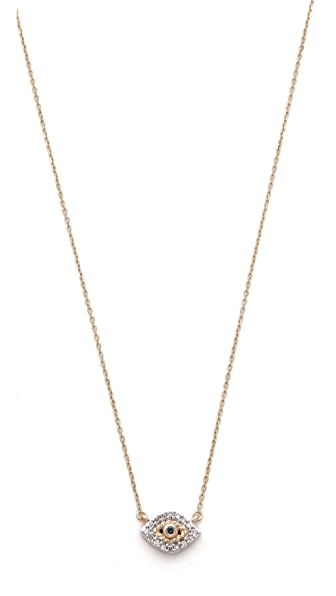Adina Reyter Super Tiny Pave Evil Eye Necklace