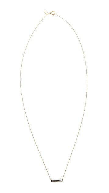 Adina Reyter 14k Gold Black Diamond Pave Bar Necklace