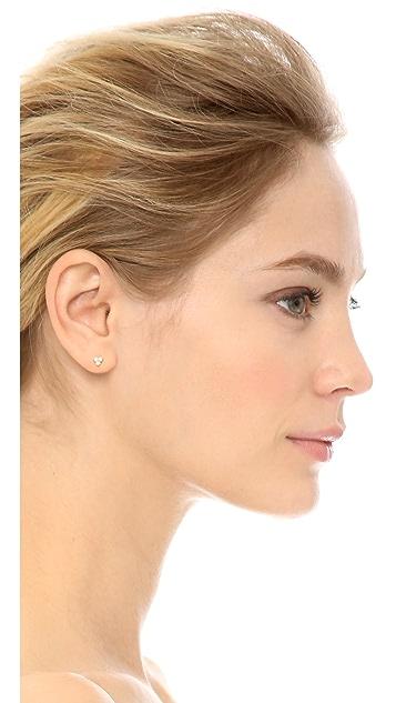 Adina Reyter 14k Gold Diamond Cluster Earrings