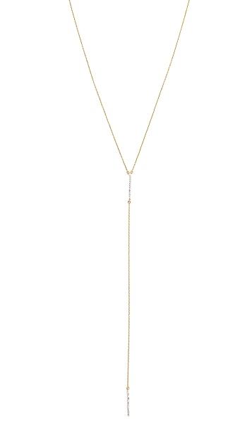 Adina Reyter Pave Double Bar Lariat Necklace