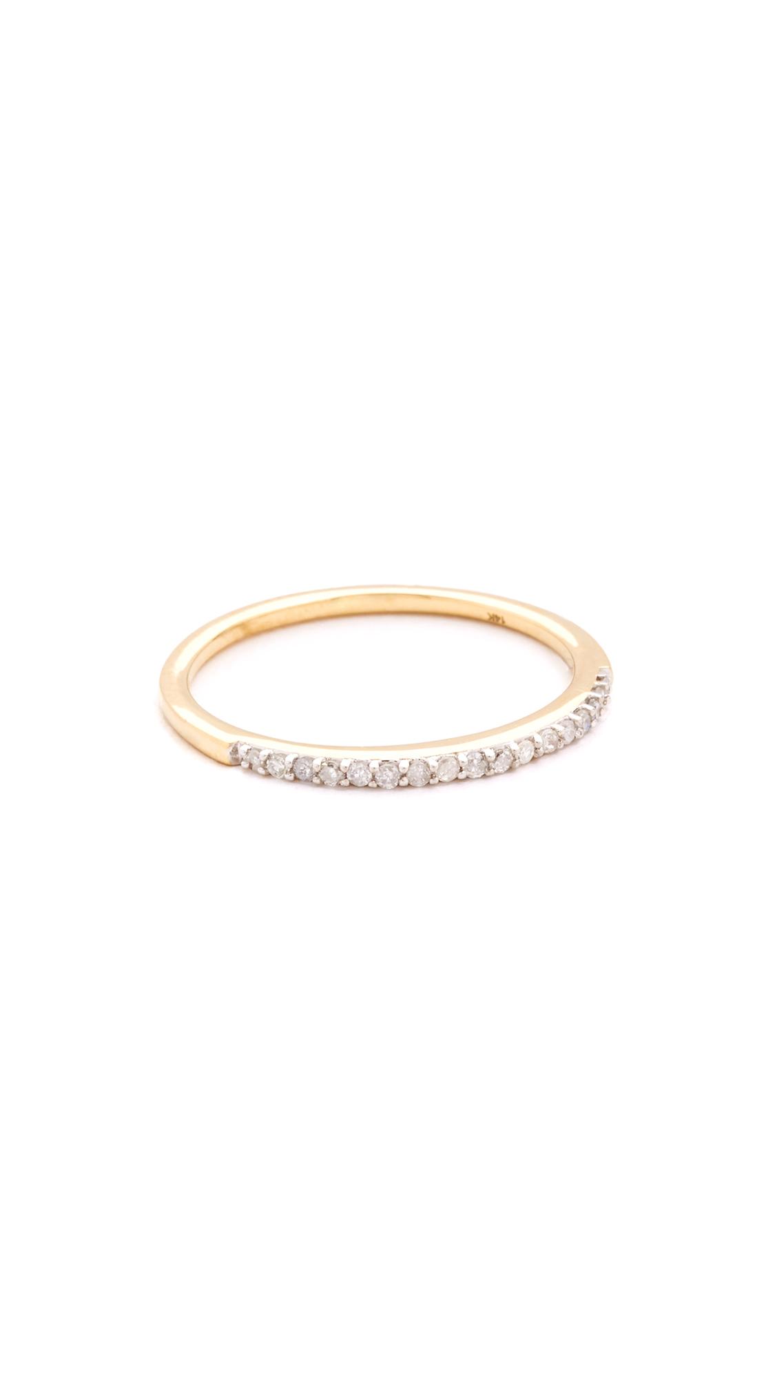 Adina Reyter Pave Band Ring - Gold