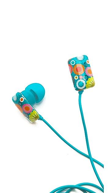 Jonathan Adler Mod Floral Ear Buds