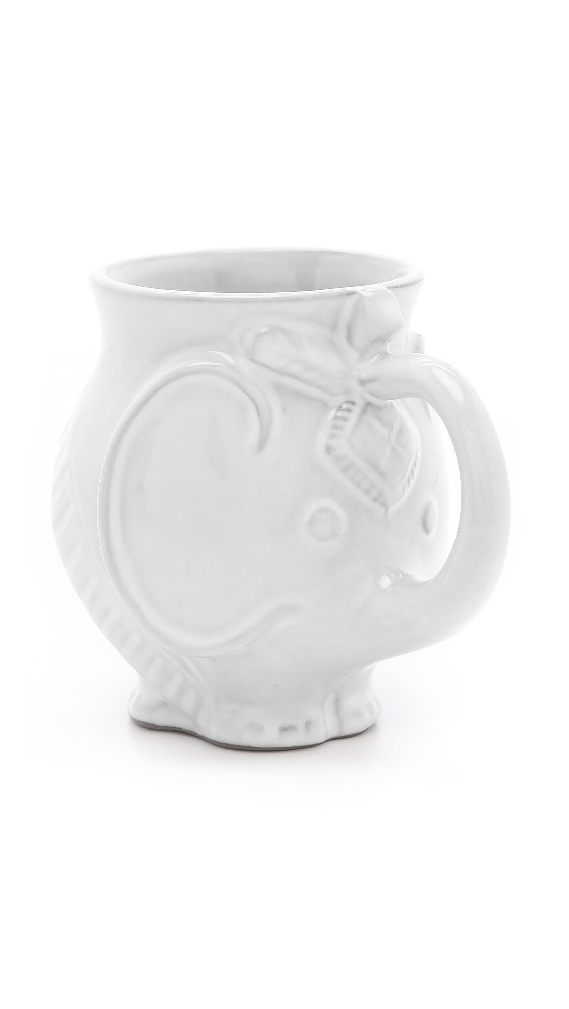 Jonathan Adler Utopia Elephant Mug - White