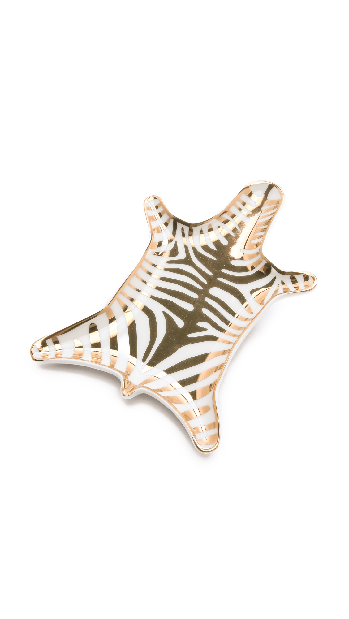 Jonathan Adler Metallic Zebra Dish - Gold