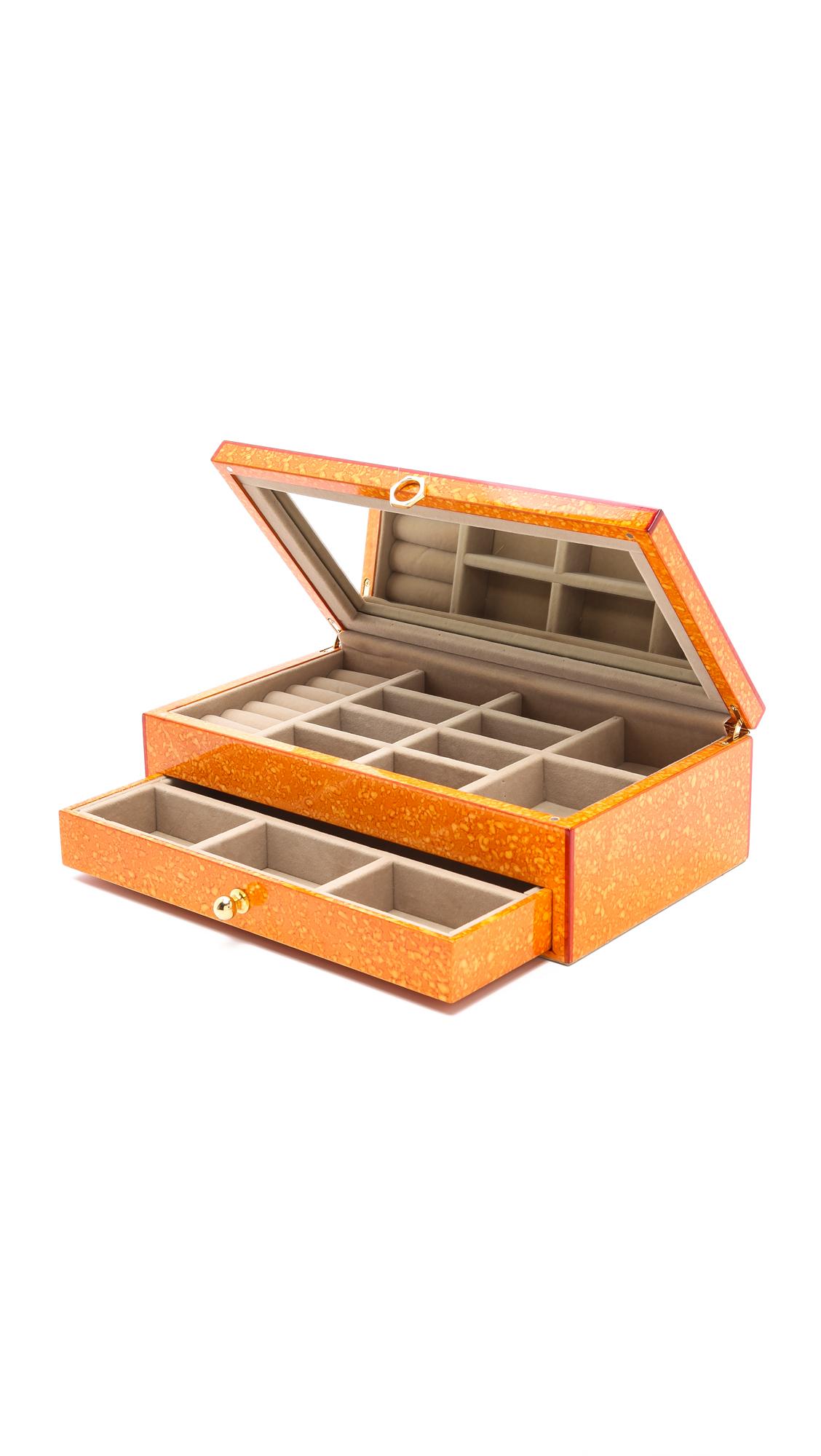 Jonathan Adler Toulouse Jewelry Box - Orange