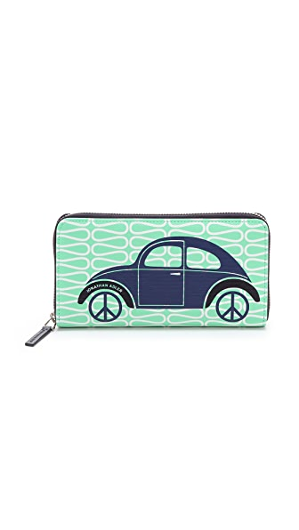 Jonathan Adler Car Continental Zip Wallet