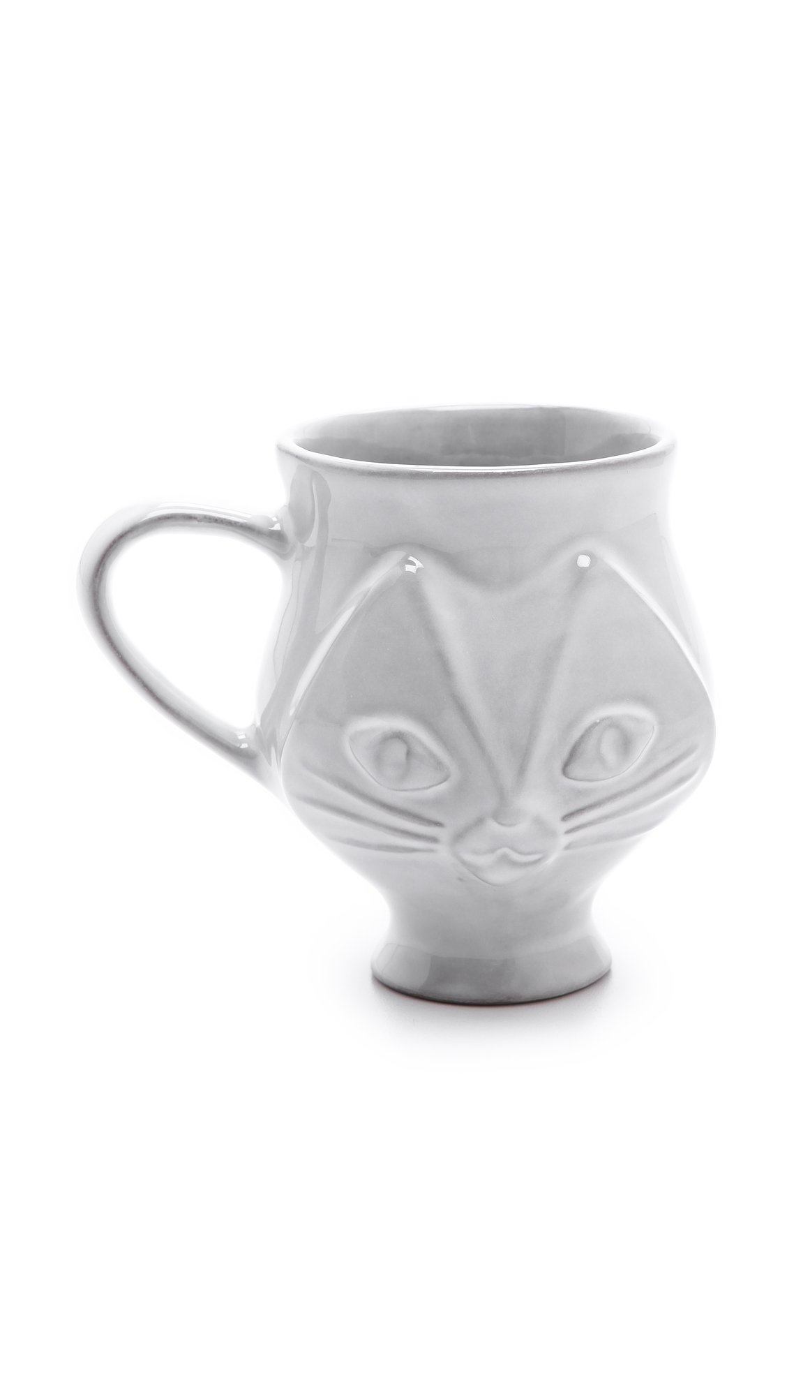 Jonathan Adler Utopia Cat Mug - White