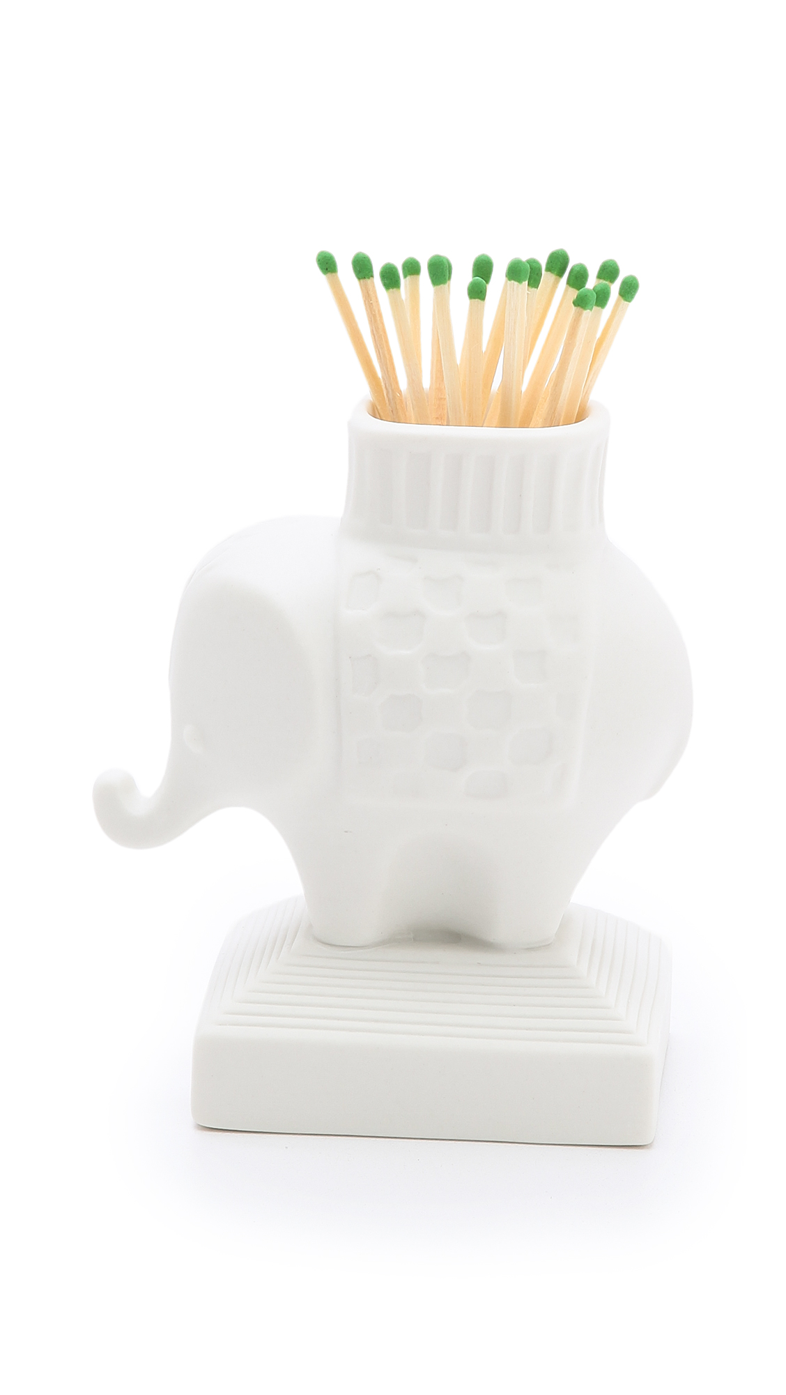 Jonathan Adler Elephant Match Strike - White