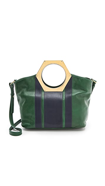 Jonathan Adler Goldie Hex Handle Bag