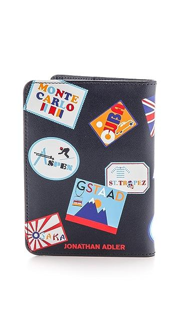 Jonathan Adler Stamps Passport Case