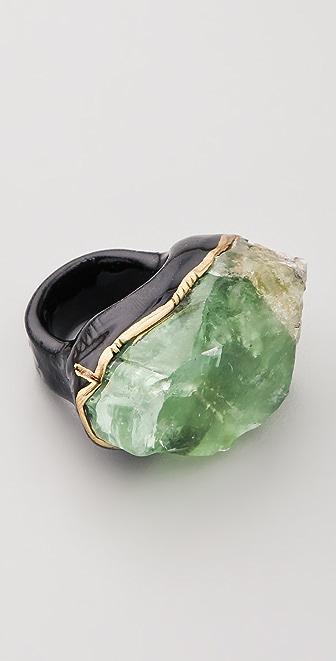 Adina Mills Design Green Calcite Ring