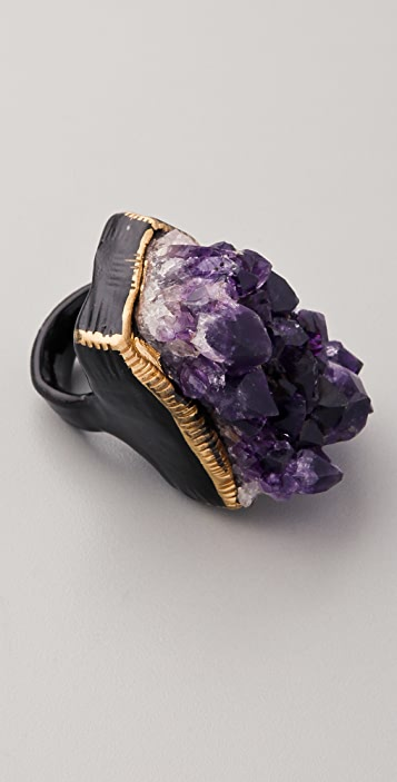 Adina Mills Design Amethyst Cluster Ring