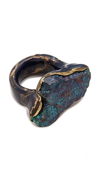 Adina Mills Design Small Peacock Pyrite Ring