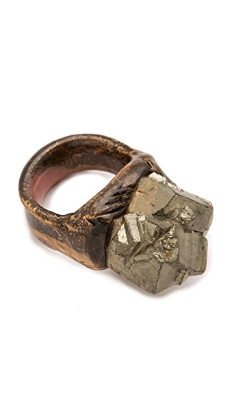 Adina Mills Design Small Pyrite Cube Cluster Ring