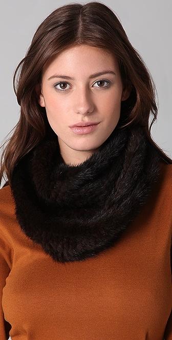 Adrienne Landau Mink Loop Scarf