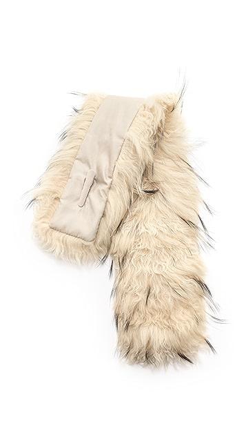 Adrienne Landau Fur Clip Scarf