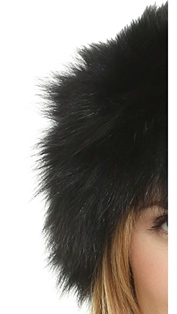 Adrienne Landau Knit Fur Headband Earwarmers
