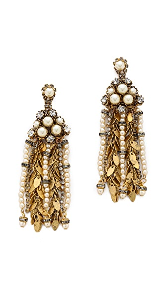 AERIN Erickson Beamon Multi Strand Drop Earrings