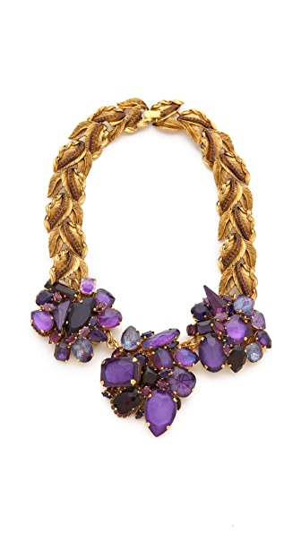AERIN Erickson Beamon Leaf & Stone Necklace