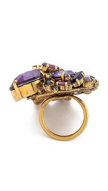 AERIN Erickson Beamon Gemstone Cocktail Ring