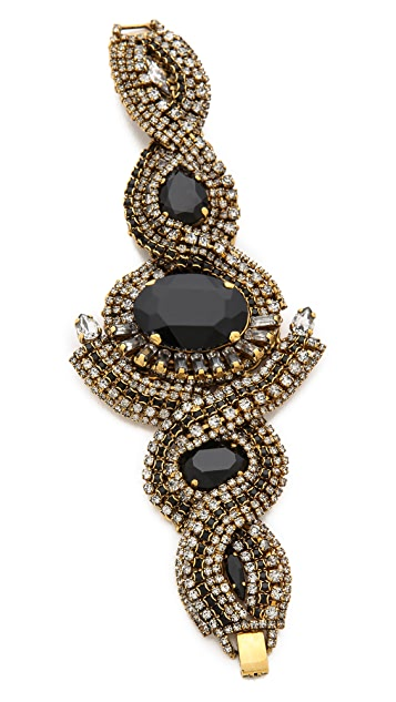 AERIN Erickson Beamon Triple Gemstone Bracelet