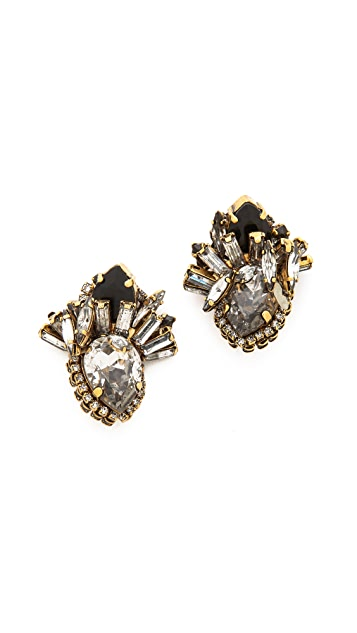 AERIN Erickson Beamon Crystal Cluster Earrings