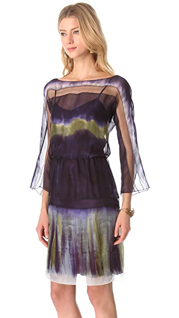 Alberta Ferretti Collection Long Sleeve Dress