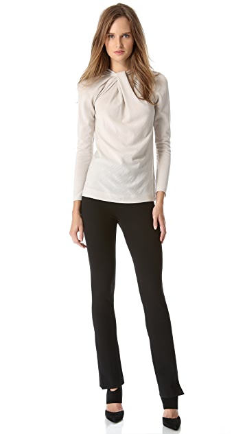 Alberta Ferretti Collection Knit Top with Long Sleeves