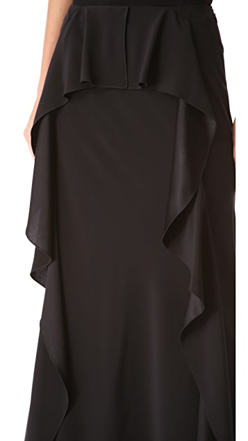 Alberta Ferretti Collection Ruffle Maxi Skirt
