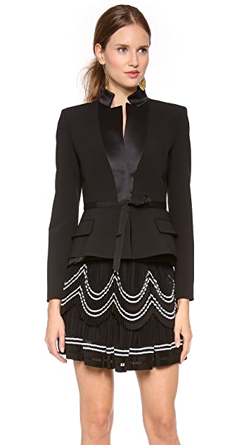 Alberta Ferretti Collection Tailored Jacket with Grosgrain Band