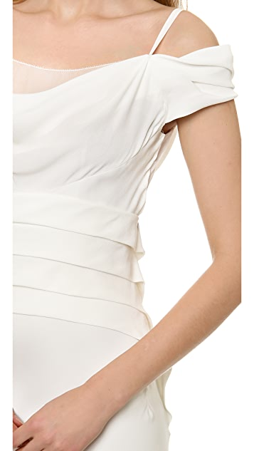 Alberta Ferretti Collection Off the Shoulder Gown
