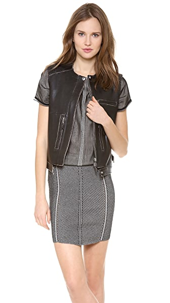 Alberta Ferretti Collection Sleeveless Leather Vest