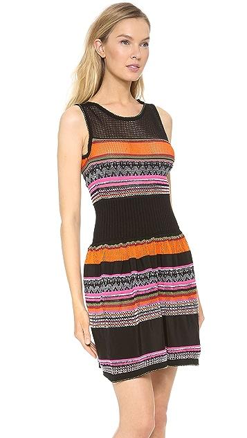 Alberta Ferretti Collection Tulle Stretch Multi Colored Dress