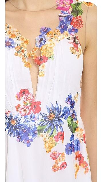 Alberta Ferretti Collection Flower Applique Dress