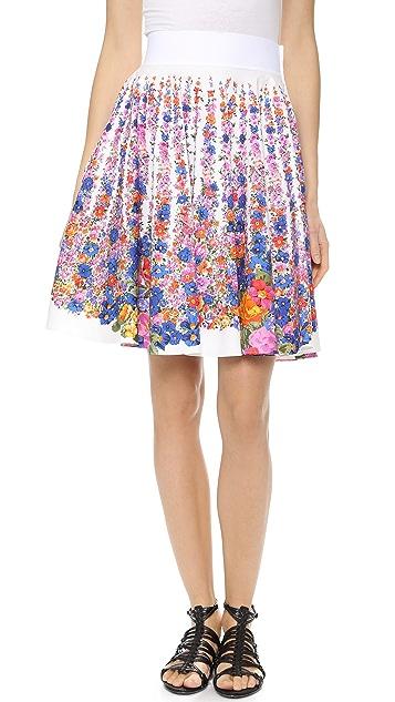 Alberta Ferretti Collection Floral Poplin Skirt