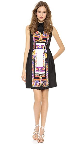 Alberta Ferretti Collection Placement Print Shirtdress