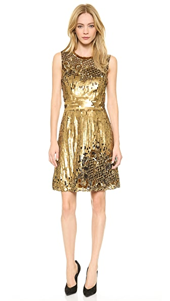 Alberta Ferretti Collection Limited Edition Sleeveless Embroidered Tulle Dress
