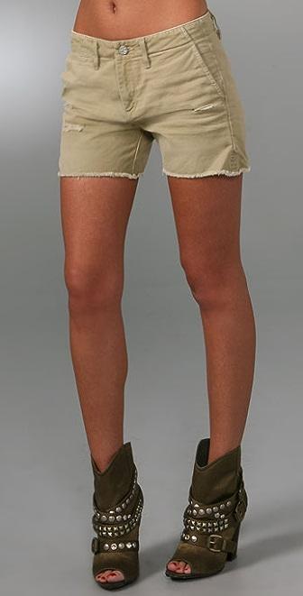 AG Khaki Boyfriend Shorts