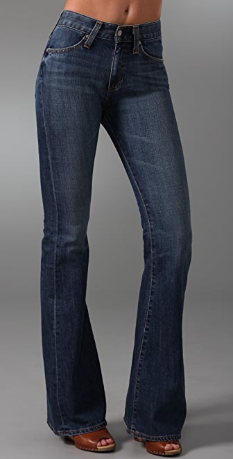 AG Farrah High Waisted Bell Bottom Jeans