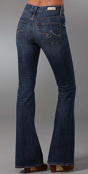AG Farrah High Waisted Bell Bottom Jeans