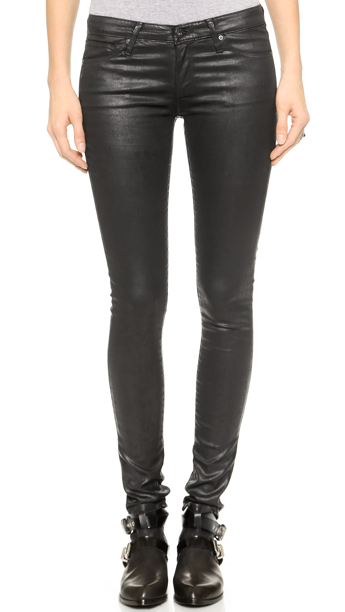 AG The Leatherette Legging Jeans | 15% off first app purchase with ...