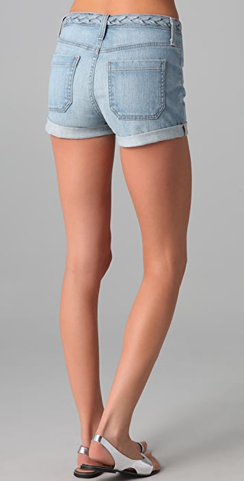 AG Lula High Rise Denim Shorts