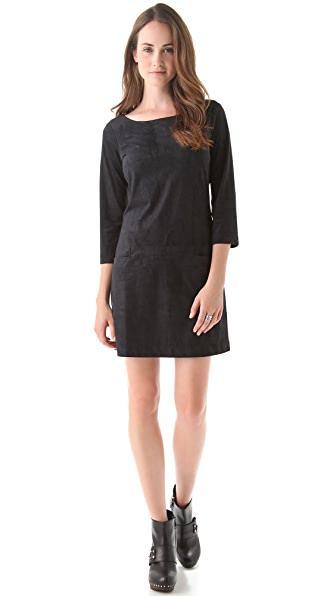 AG Zip Back Microsuede Dress