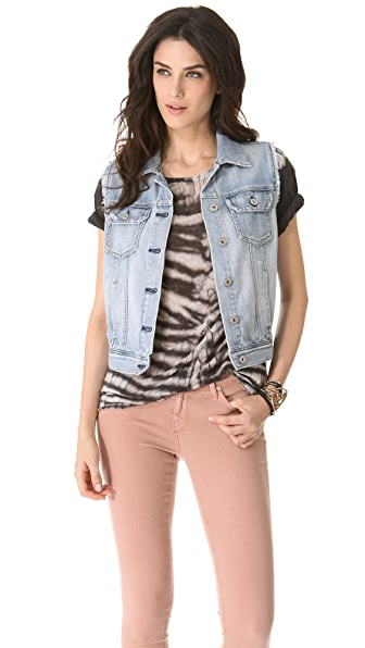 AG Heather Easy Denim Vest