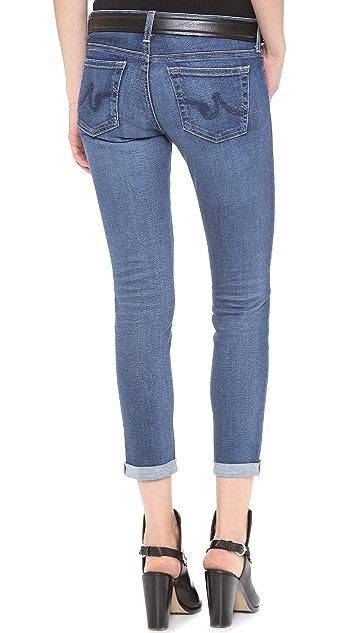AG Stilt Cigarette Roll Up Jeans