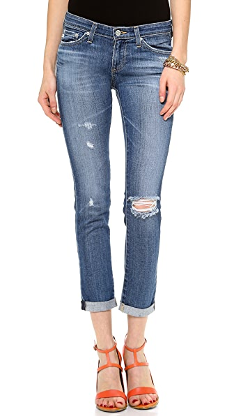 AG The Stilt Cigarette Roll Up Jeans