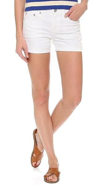 Ag Hailey Ex Boyfriend Cuffed Shorts - 1 Year White at Shopbop